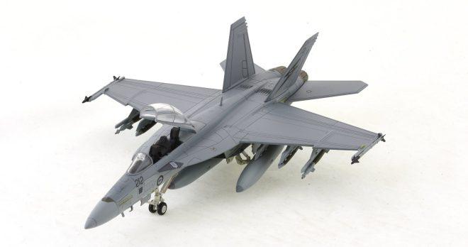 Hobby-Master-HA5103-FA-18F-Super-Hornet-Diecast-Model-A44-212-1-Sqn-RAAF-Okra-Front-Port-View