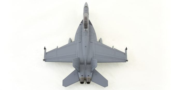 Hobby-Master-HA5103-FA-18F-Super-Hornet-Diecast-Model-A44-212-1-Sqn-RAAF-Okra-Top-View