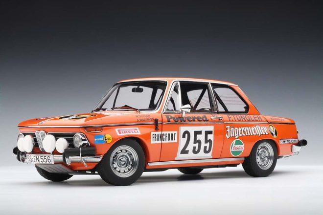 AUTOART – BMW – 2002 JAGERMEISTER N 255 RALLY MONTECARLO 1973 WILLER – WAGENER-3